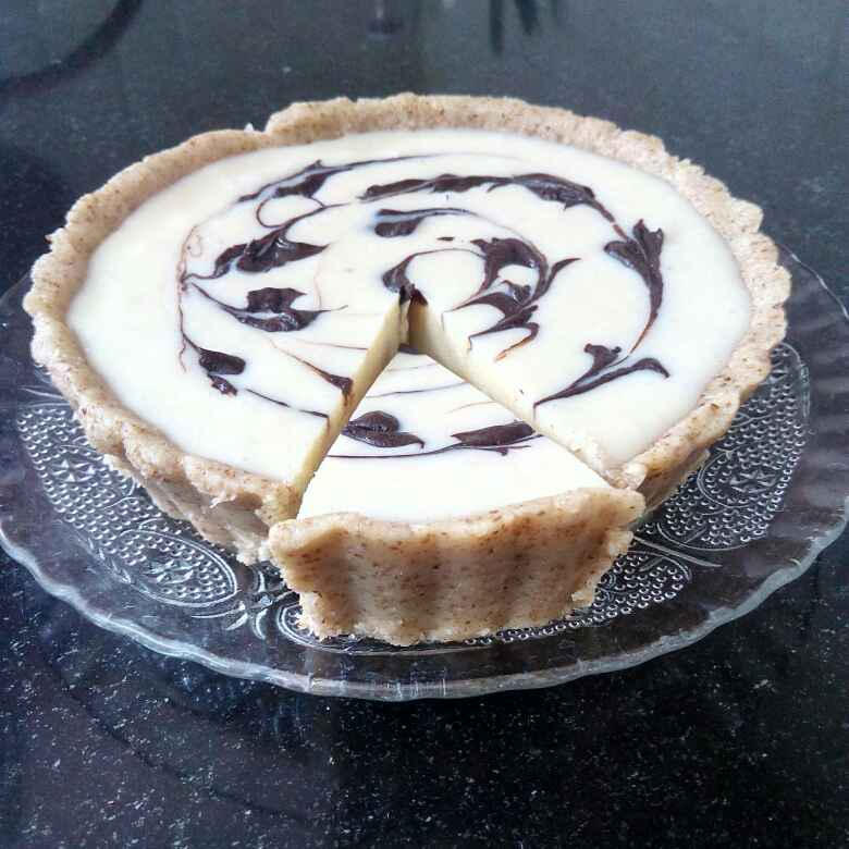 Photo of White Chocolate Tart with Almond Crust by Sweta Shet at BetterButter
