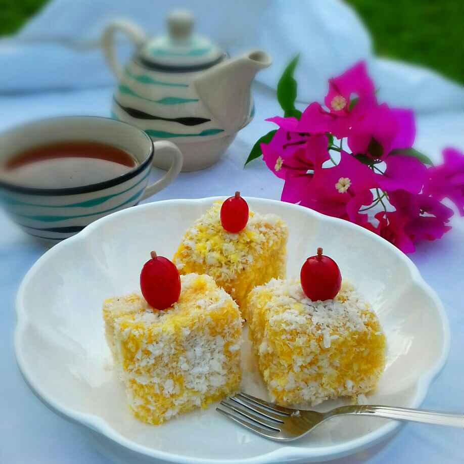Photo of mango lamington by Tamali Rakshit at BetterButter