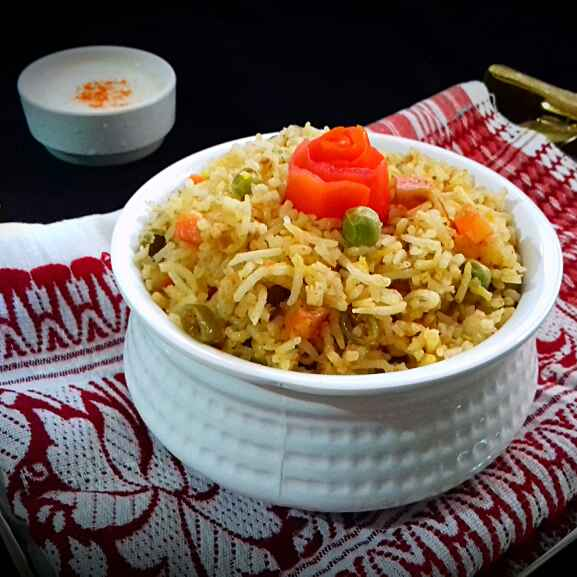 How to make Veg biryani without onion-garlic
