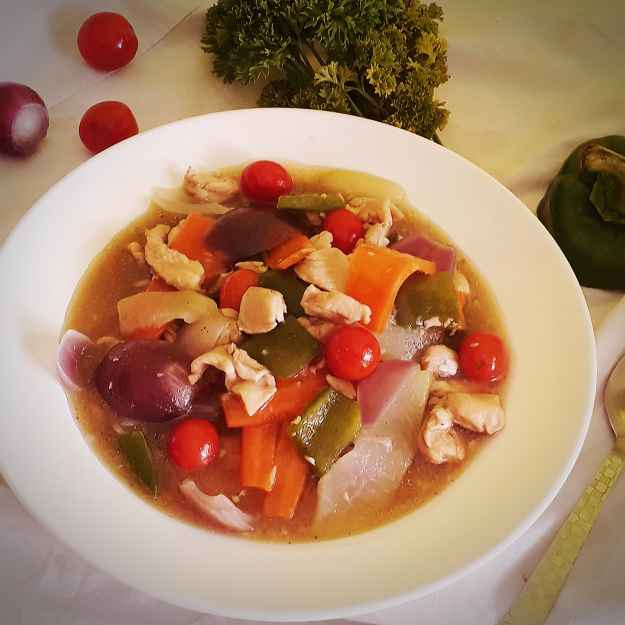 Photo of Chinese chicken Vegetable soup by Tanhisikha Mukherjee at BetterButter