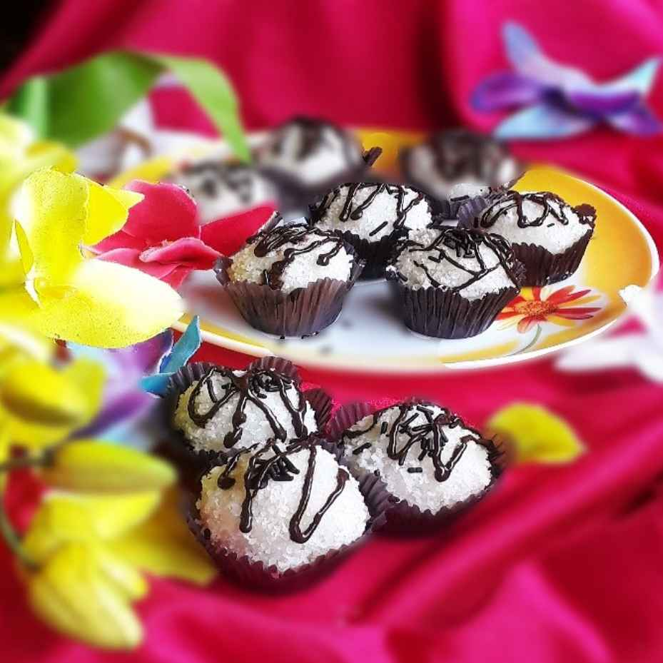 Photo of Coconut dark chocolate beijinho truffle by Tanhisikha Mukherjee at BetterButter