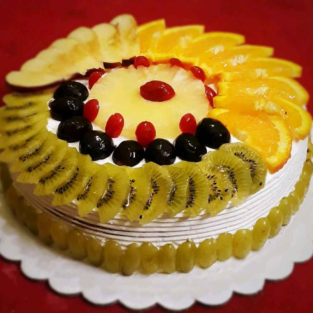 Photo of Eggless Fresh fruit cake by Tanhisikha Mukherjee at BetterButter