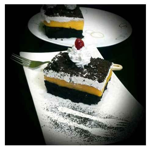 How to make ब्लैक फॉरेस्ट वैनिला कस्टर्ड आइसक्रीम केक