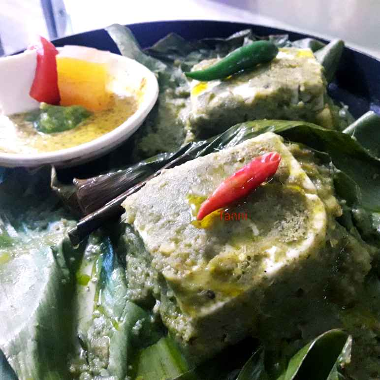 Photo of Aam papad stuffed paneer green chutney cooked in banana leaves by Tanni Goswami at BetterButter