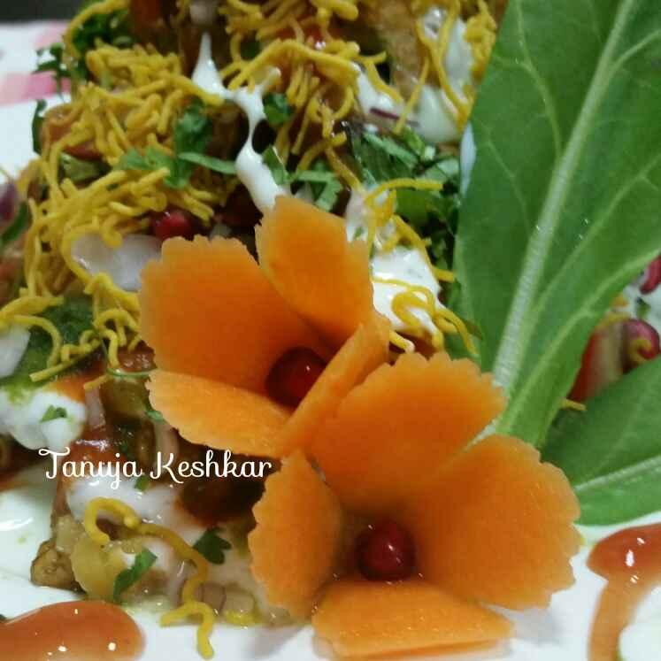 How to make Amma's Spinach potato pakoda chaat