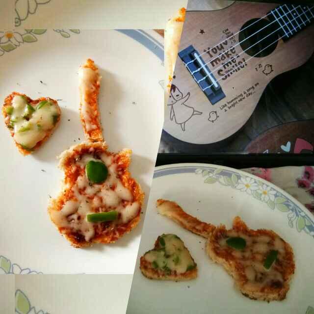 Photo of Mini guitar pan pizza by Tanvi Sharma at BetterButter