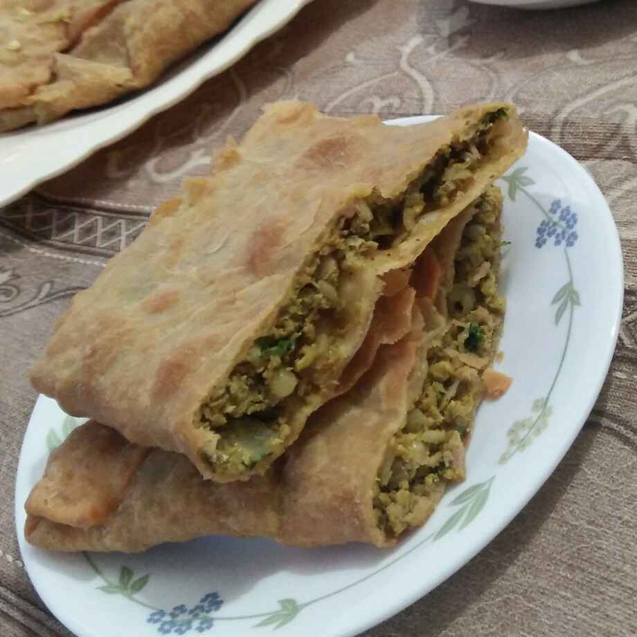 How to make Anda kheema paratha