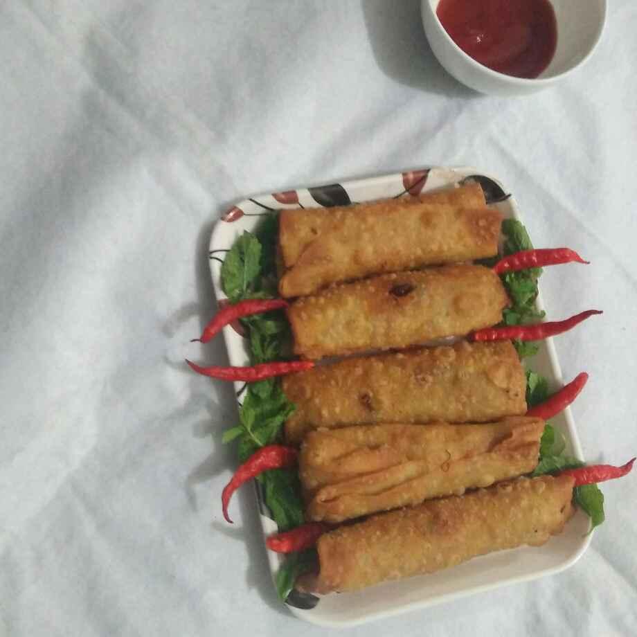 Photo of Paneer noodles spring roll by safiya abdurrahman khan at BetterButter