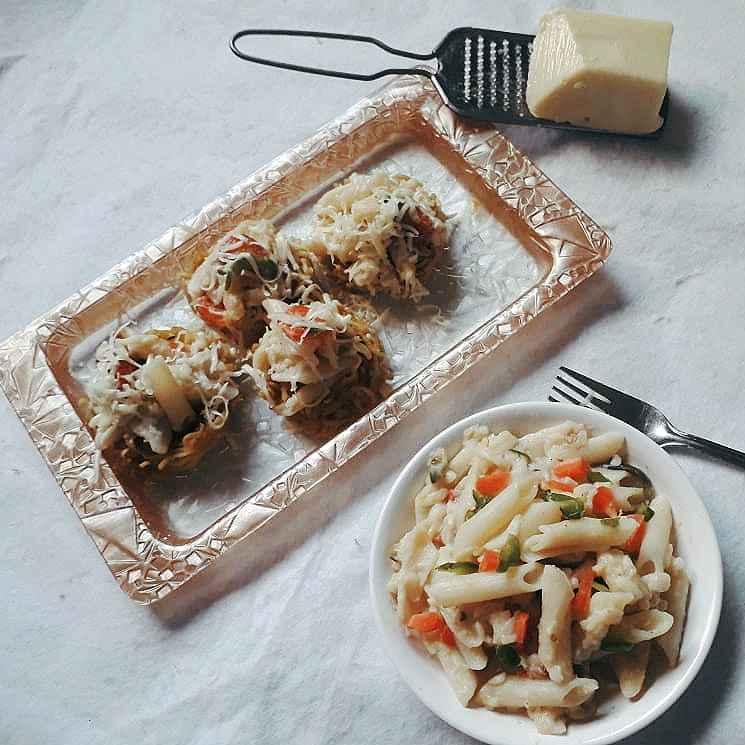 Photo of White sauce pasta in maggi nest by safiya abdurrahman khan at BetterButter