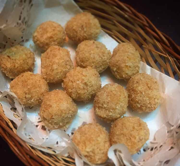 Photo of low carb/keto coconut laddoos. by Suktara Pereira at BetterButter