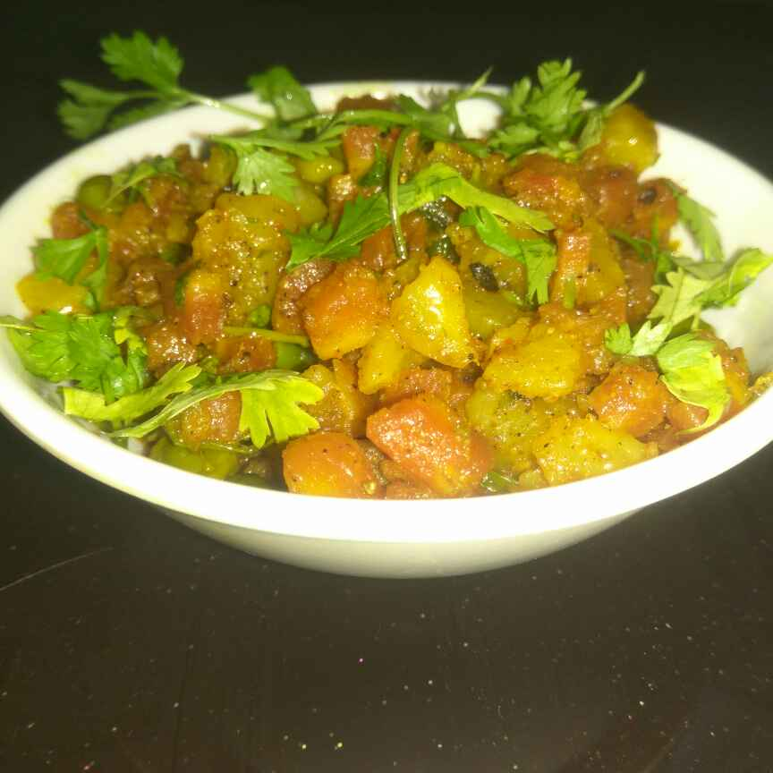 How to make Gajar Aaloo Sabzi
