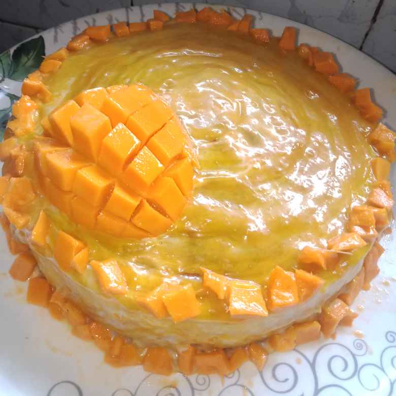 How to make mango glaze cake