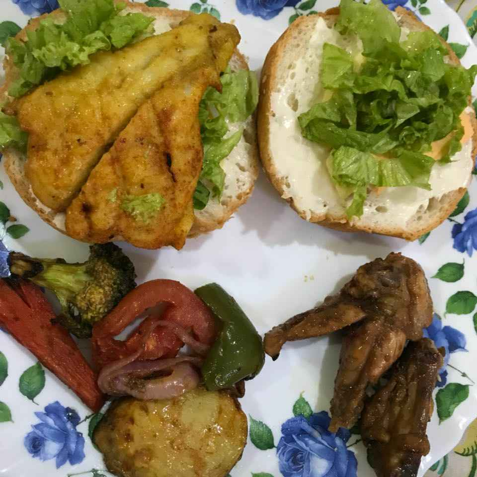 Photo of Grilled fish fillet burger by Tashneem Ali Chaudhury at BetterButter