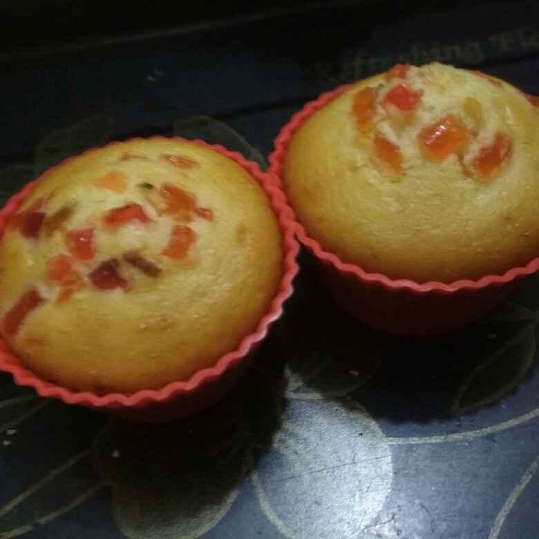 How to make टूटी फ्रूटी कप केक