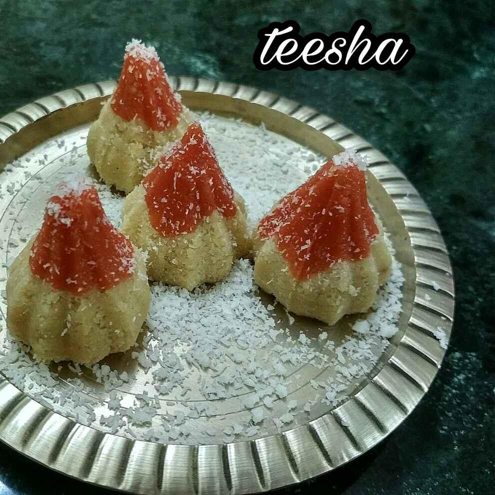 Photo of Coconut mava modak by Teesha Vanikar at BetterButter