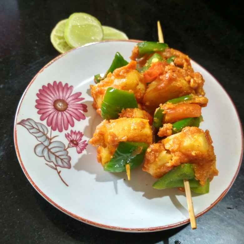 Photo of Masala aalu shimla tikka by Teesha Vanikar at BetterButter