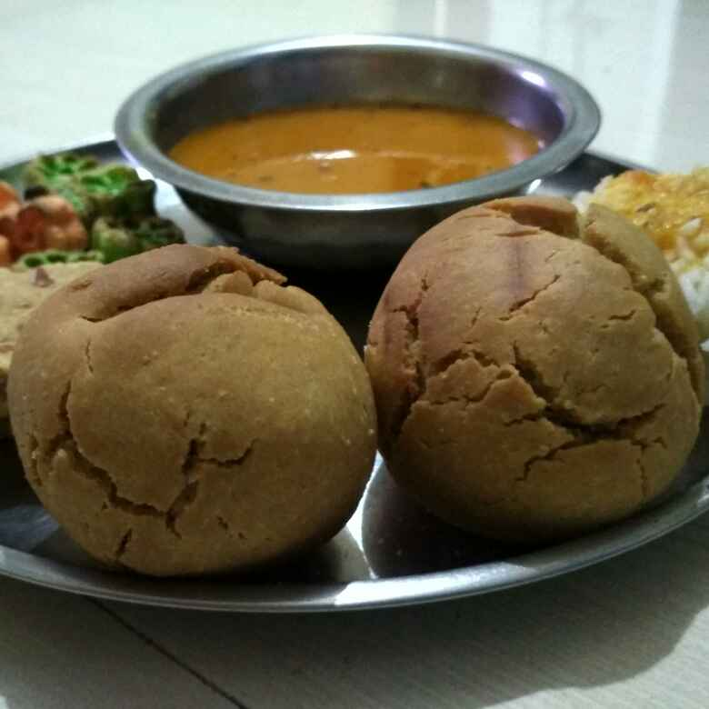 Photo of Leftover upma,daalbaati without oven by Teesha Vanikar at BetterButter
