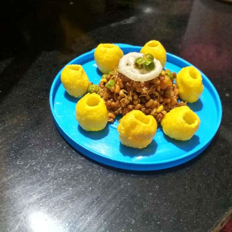 Photo of Fry masala spraut with kabab by Teesha Vanikar at BetterButter