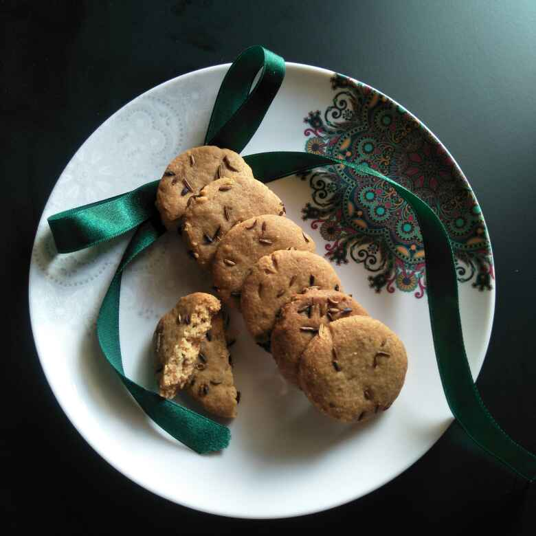 Photo of Eggless Jeera Cookies from Leftover Bhajni (Mine self innovative recipe) by Tejashree Ganesh at BetterButter