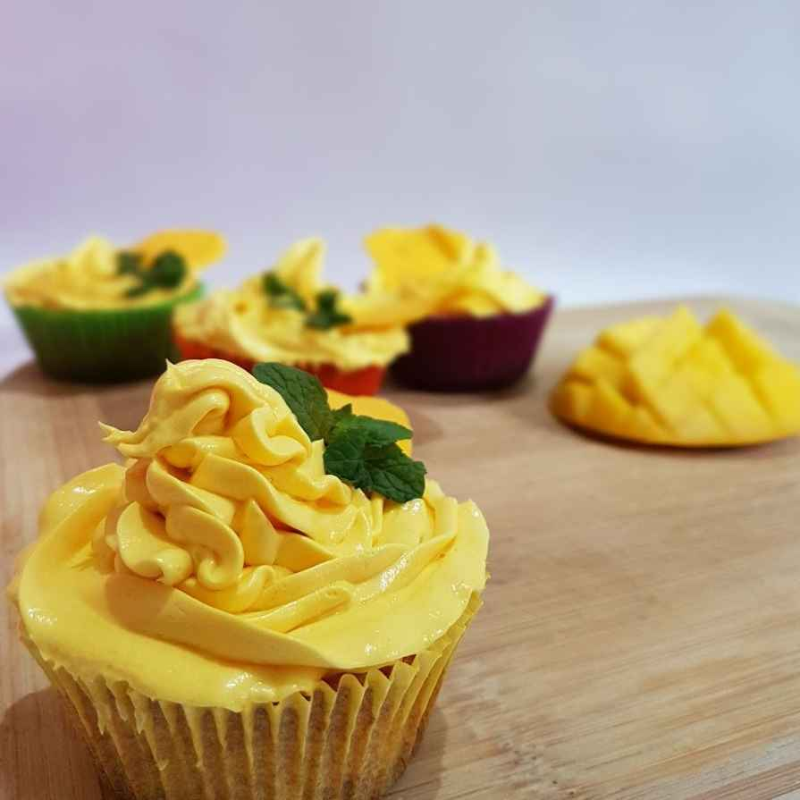 Photo of Mango cupcake with Mango Mousse by Tejashwini Praveen at BetterButter