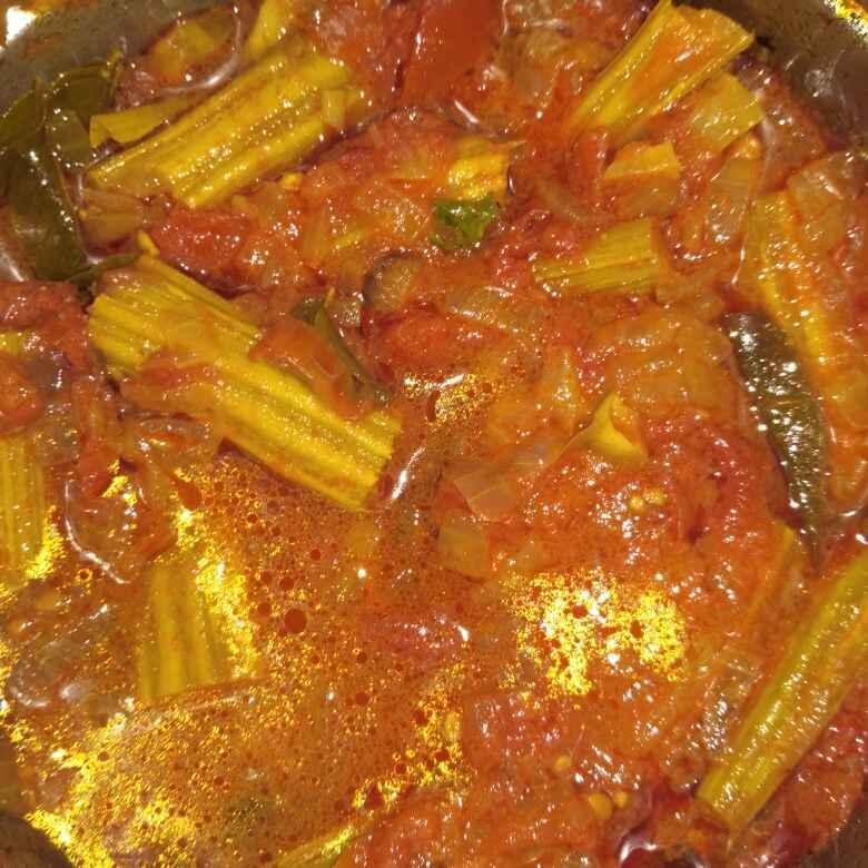 How to make ములకాయ టమోటా గ్రేవీ కూర