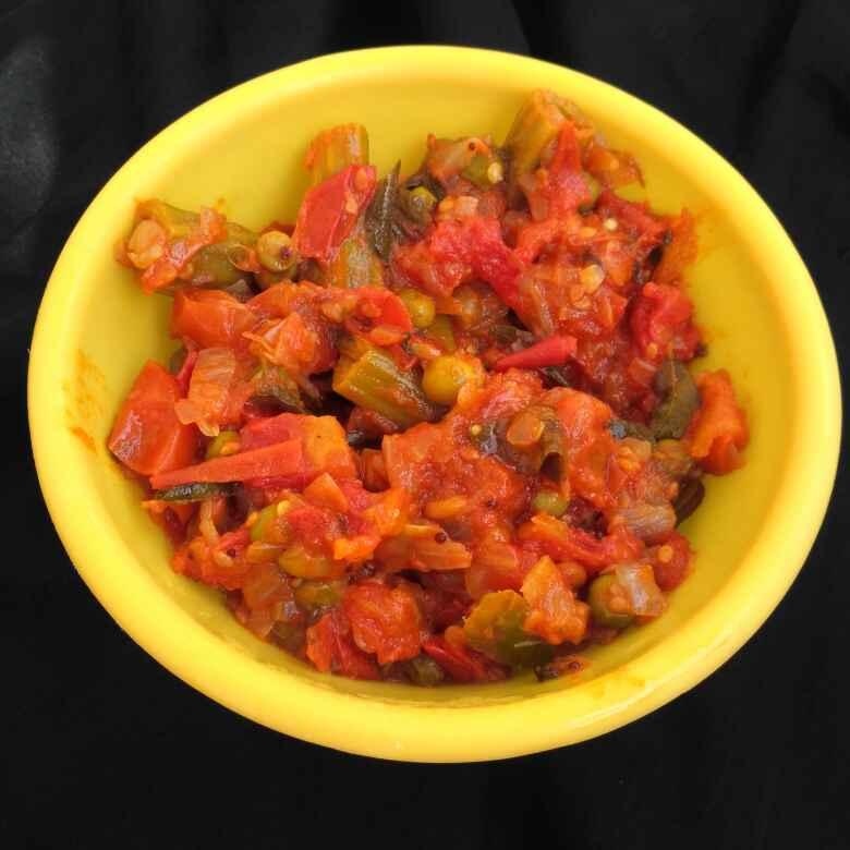 Photo of Tomato Kurma with Green Peas by Tejaswi Yalamanchi at BetterButter