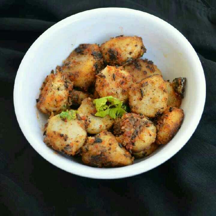 How to make Arbi fry recipe