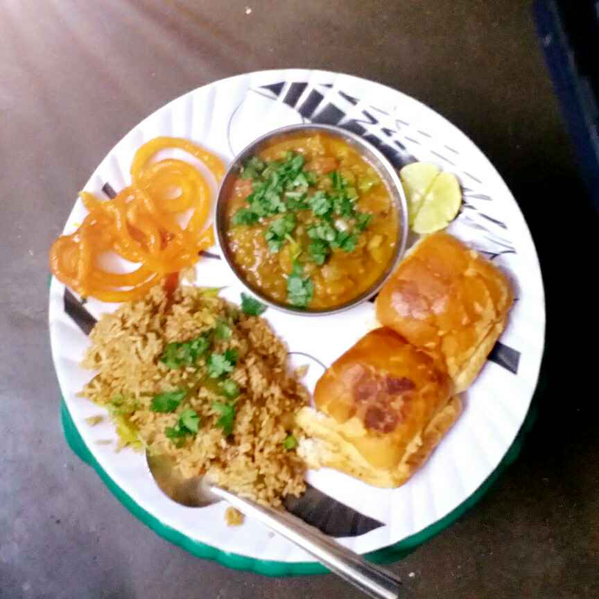 Photo of Pav bhaji shezwan rice kids party special by tejswini dhopte at BetterButter