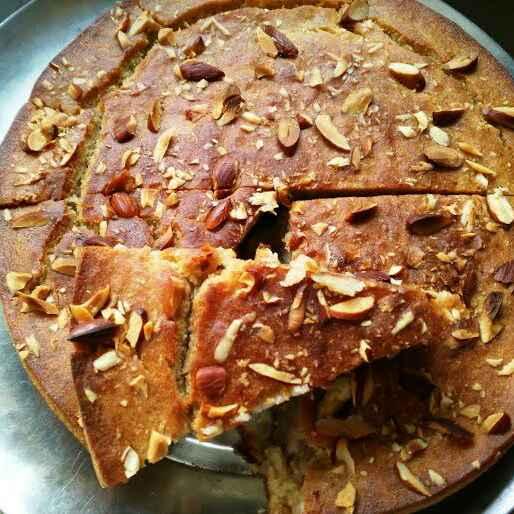 How to make बदाम केक