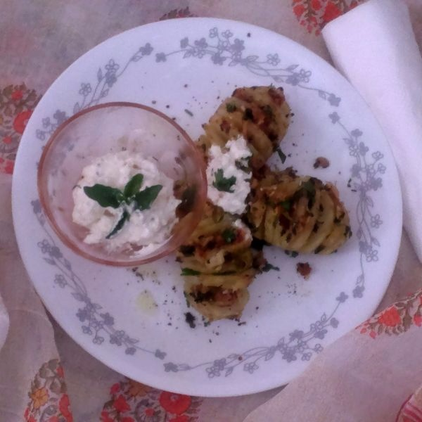 Photo of Hasselback Potatoes With Garlic Butter And Herbs by Tikuli Dogra at BetterButter