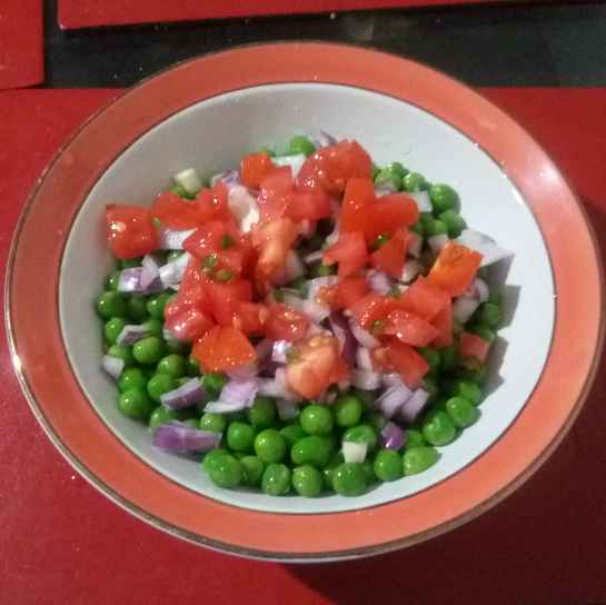 Photo of Green peas chaat by টিনা সাধুখাঁ at BetterButter