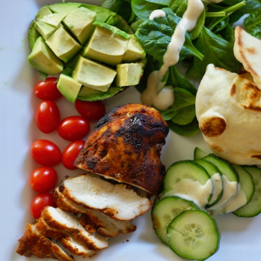 How to make Tandoori chicken salad with mint garlic buttermilk dressing