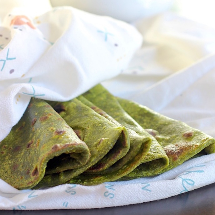 How to make Spinach Roti