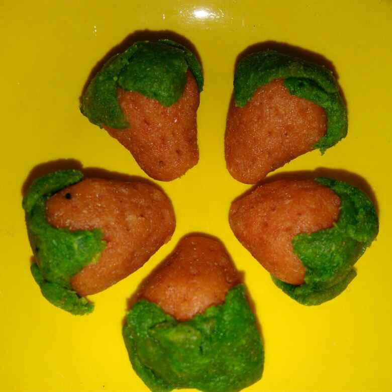 How to make Strawberry kaju barfi