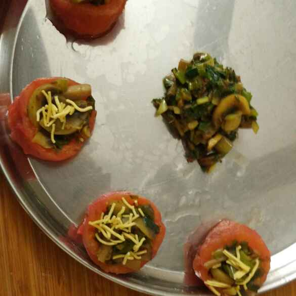 Photo of Stuffed tomatoes  with mushroom by Triptila KS at BetterButter