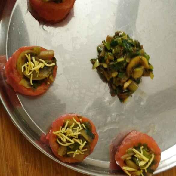 How to make Stuffed tomatoes  with mushroom
