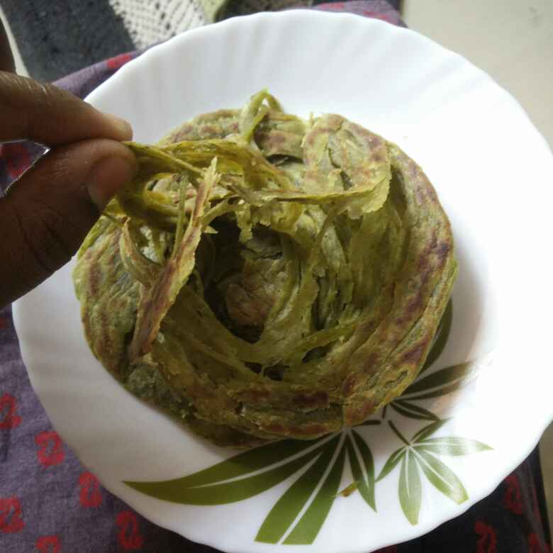 Photo of Palak layered patata by రమ్య వూటుకూరి at BetterButter
