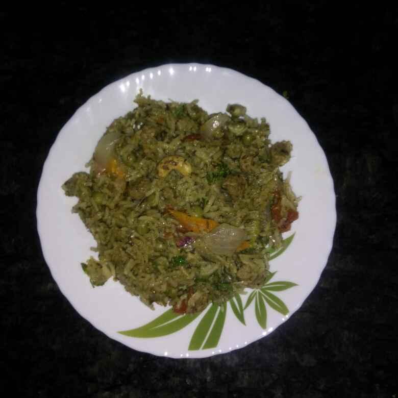How to make పాలక్ సొయా వెజ్ బిర్యానీ