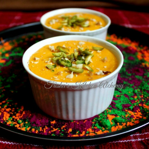 How to make Baked Aam Doi (Baked Mango Yogurt)