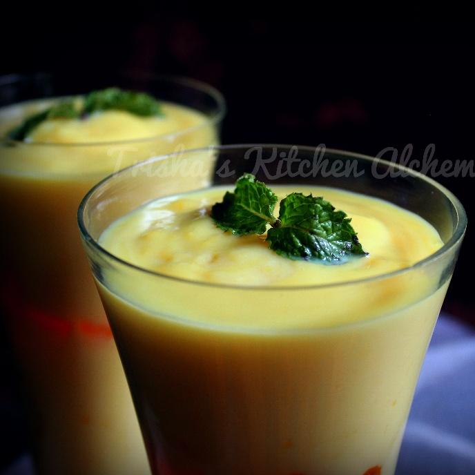 How to make Mango Zabaglione (Warm Italian Custard)