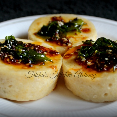 How to make White (Khatta) Dhokla Cups in the Microwave