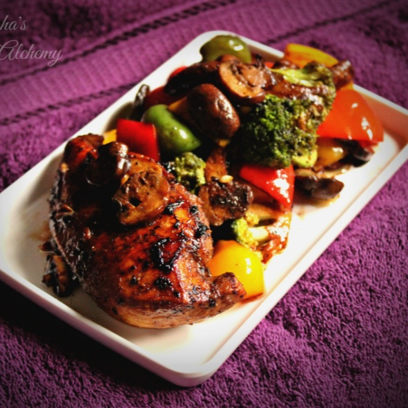 Photo of Balsamic Grilled Chicken & Veggies by Trisha Rudra at BetterButter