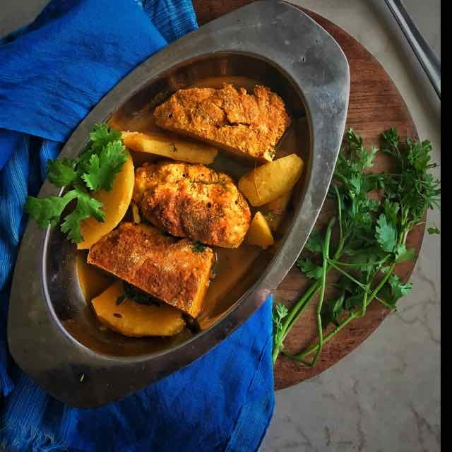 How to make Macher dimer malai Dalna( Fish egg cooked in coconut sauce )