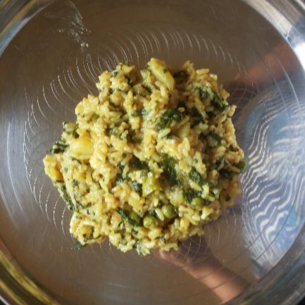 How to make Palak masala rice