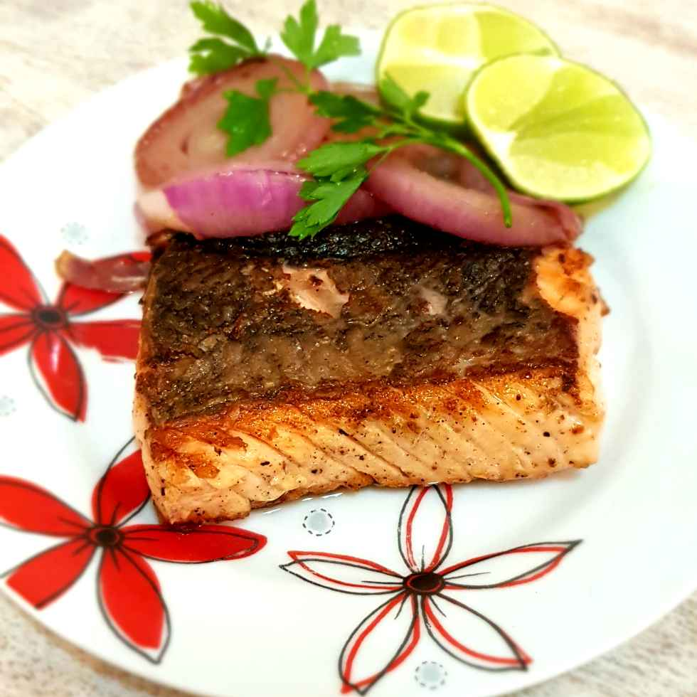 How to make Pan seared pepper Salmon