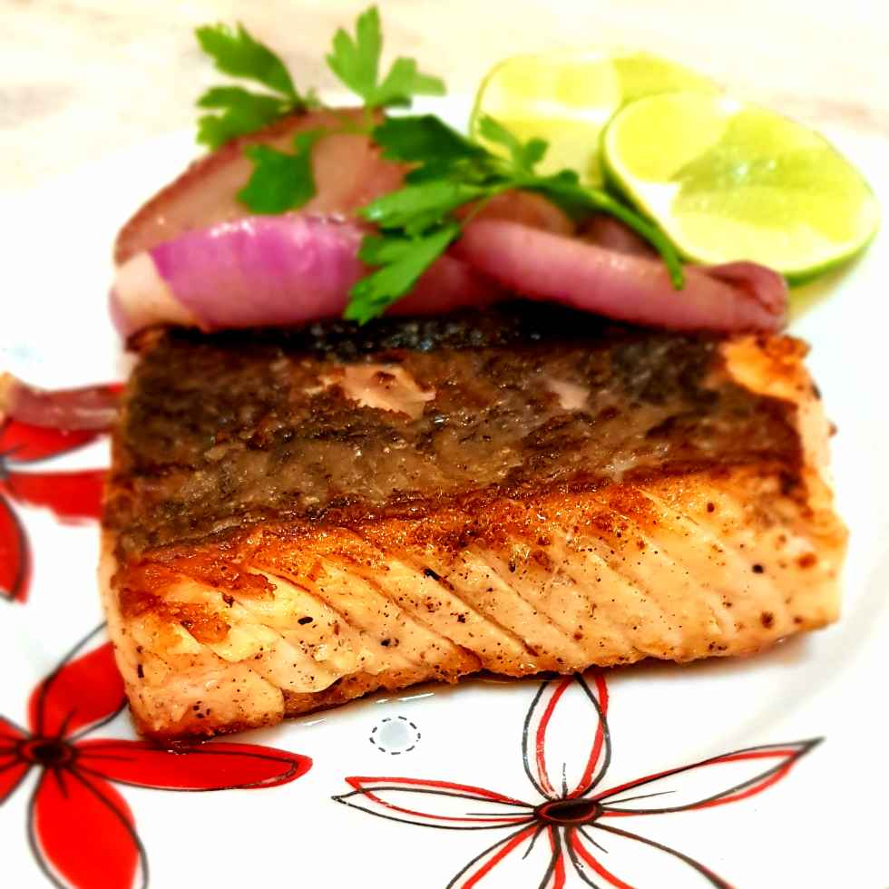 How to make Pan seared pepper Salmon