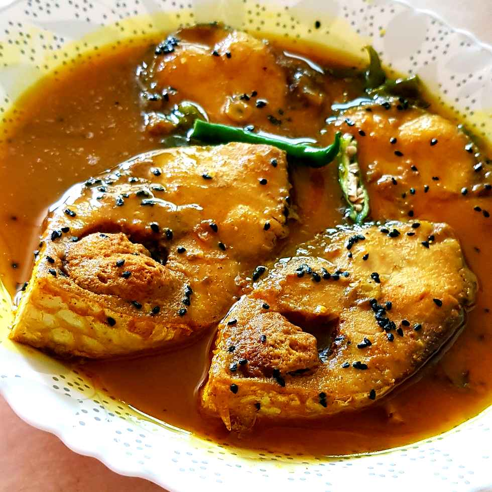 How to make Iilish tel jhal/ Hilsa fish in mustard oil gravy