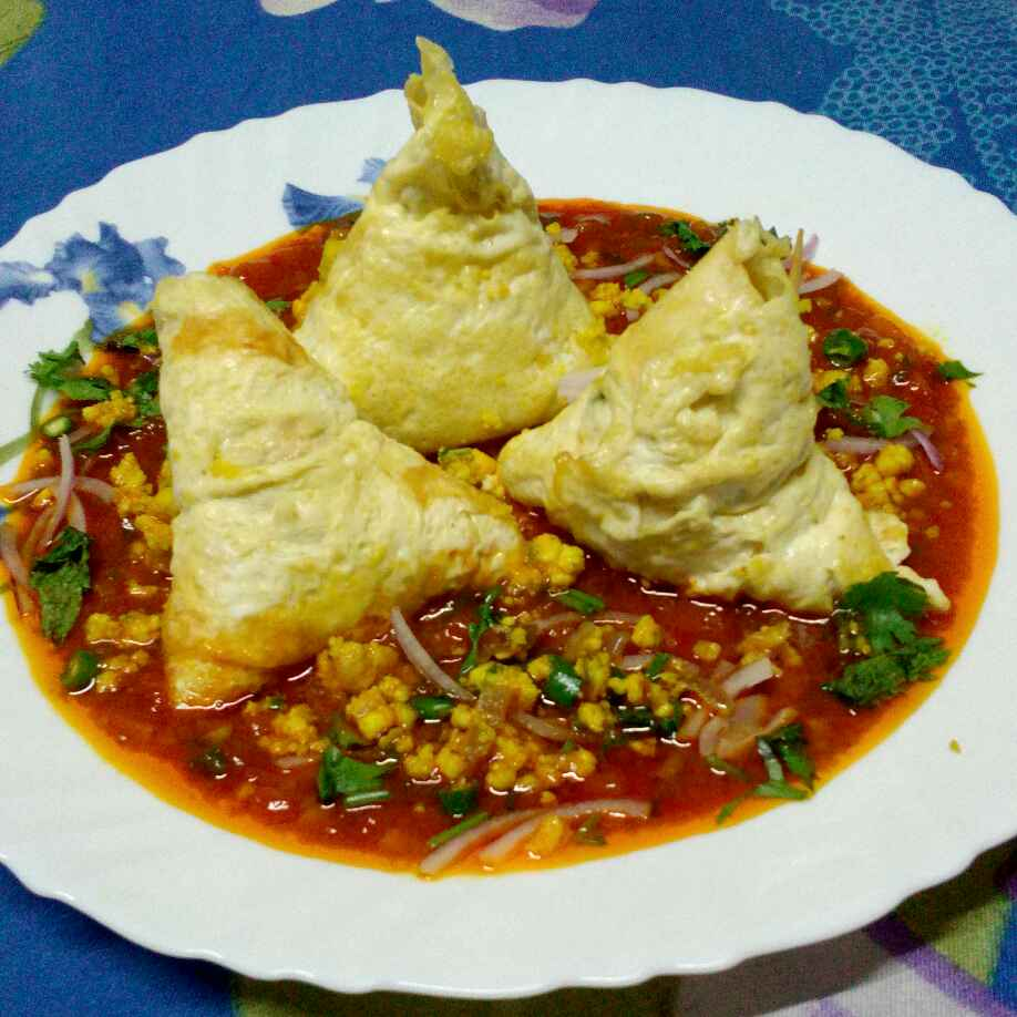 Photo of Egg Samosa Chat by Tulika Santra at BetterButter