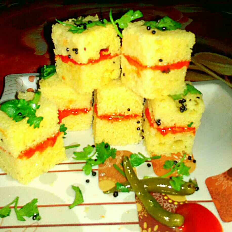 How to make Dhokla Sandwich