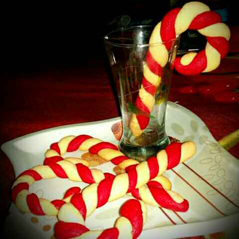 Photo of Candy Cane Cookise by Tulika Santra at BetterButter